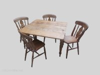 Farmhouse Kitchen Table And Chairs - Antiques Atlas