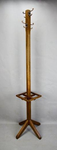 Arts & Crafts Oak Coat Rack Stick Umbrella Stand ...