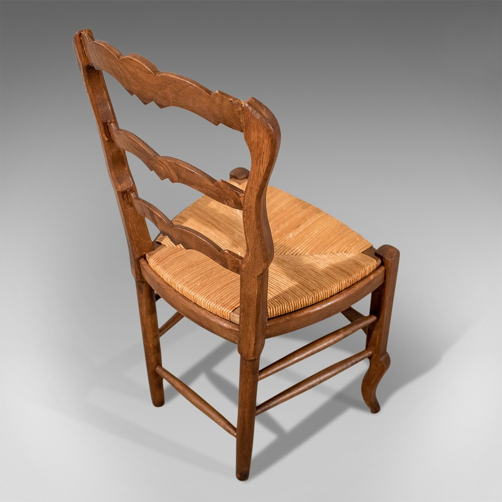 Antique French Oak Country Kitchen Dining Chairs