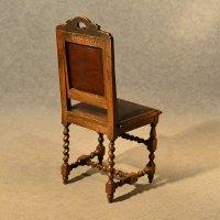 Antique Oak Chairs Set 4 Kitchen Dining English - Antiques ...