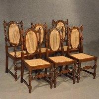 Antiques Atlas - Antique Oak Chairs Set 6 Kitchen Dining ...