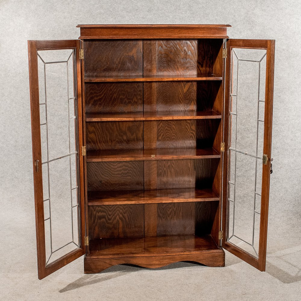 Antique Oak Display Bookcase China Cabinet Quality