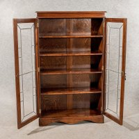 Antique Oak Display Bookcase China Cabinet Quality ...