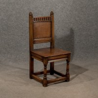 Antique Oak Hall Church Dining Side Chair English ...