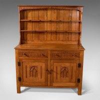 Antiques Atlas - Antique Oak Kitchen Display Dresser Cabinet