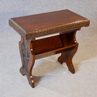 Antique Occasional Side Table Book Magazine Rack ...