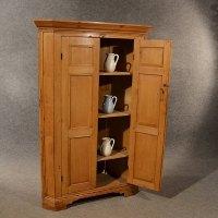 Antique Pine Corner Cabinet Cupboard Larder - Antiques Atlas