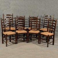 Antiques Atlas - Antique Set 8 Oak Dining Kitchen Chairs ...