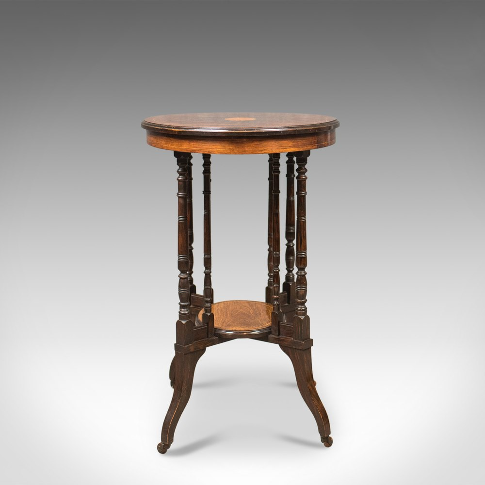 Victorian End Table Antique Side Table, Victorian Rosewood, English C.1880