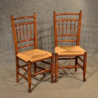 Oak Chairs Pair Kitchen Dining Country Quality - Antiques ...