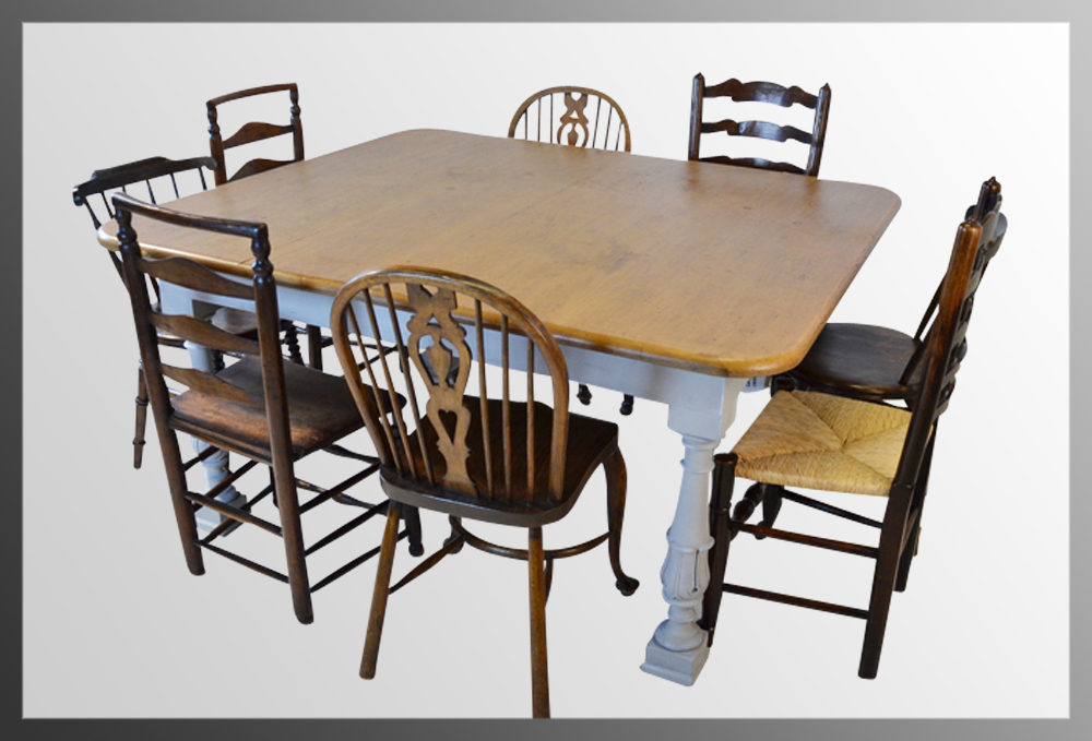 Pine Large Kitchen Dining Table 6 8 Seater Antiques Atlas