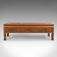 Antiques Atlas - Vintage Chinese Low Coffee Table Three Drawer
