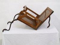 19th C. Folding Campaign Travel Chair - Alderman ...