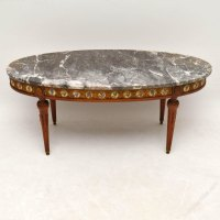 Antique French Marble Top Coffee Table - Antiques Atlas