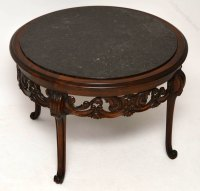Antique Marble Top Walnut Coffee Table - Antiques Atlas