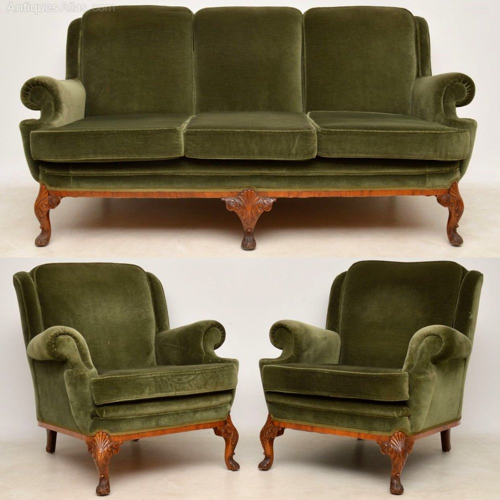 Sofa Queen Anne Antique Queen Anne Walnut Sofa Armchairs Suite Antiques Atlas