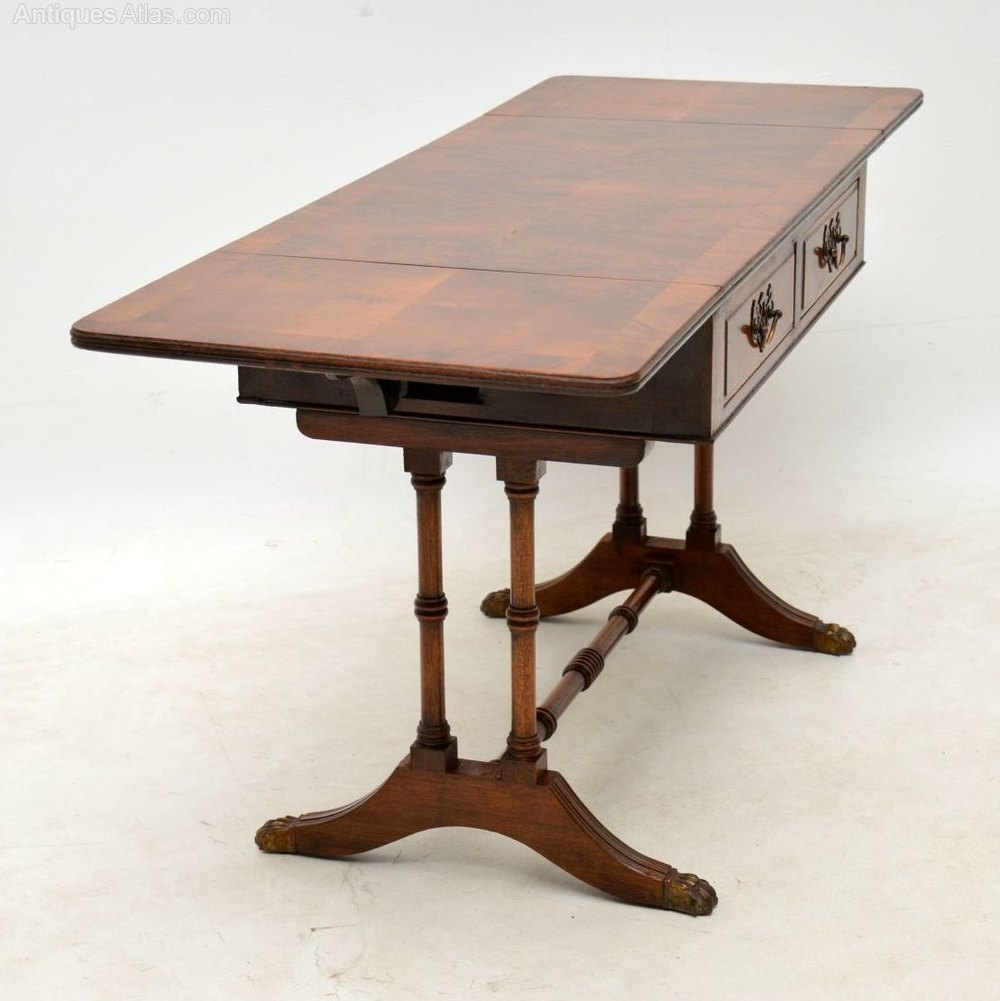 Antique Walnut Drop Leaf Coffee Table
