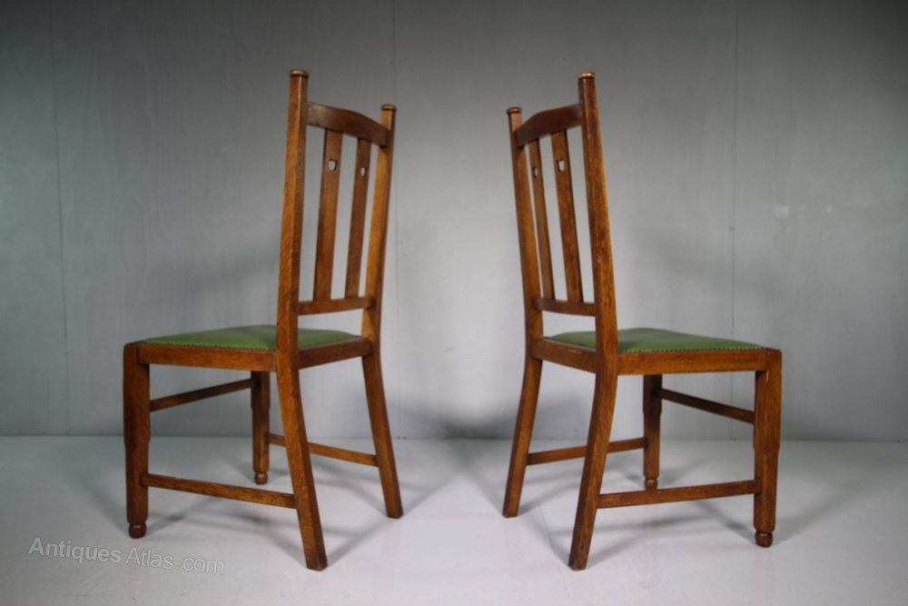 Set Of Six Antique Oak Dining Chairs By Wylie Lo