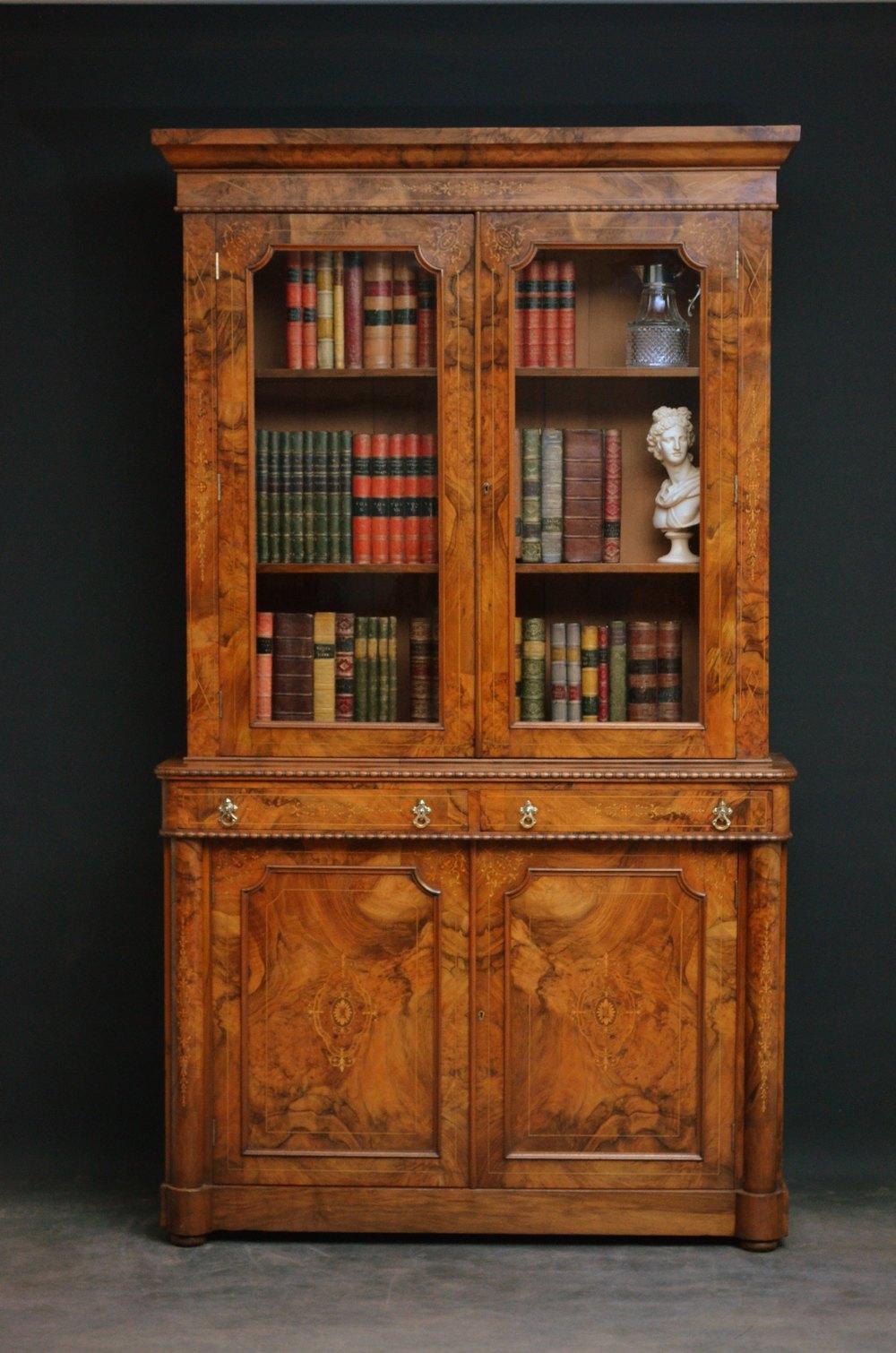 Fine Example Of Victorian Walnut Bookcase Antiques Atlas