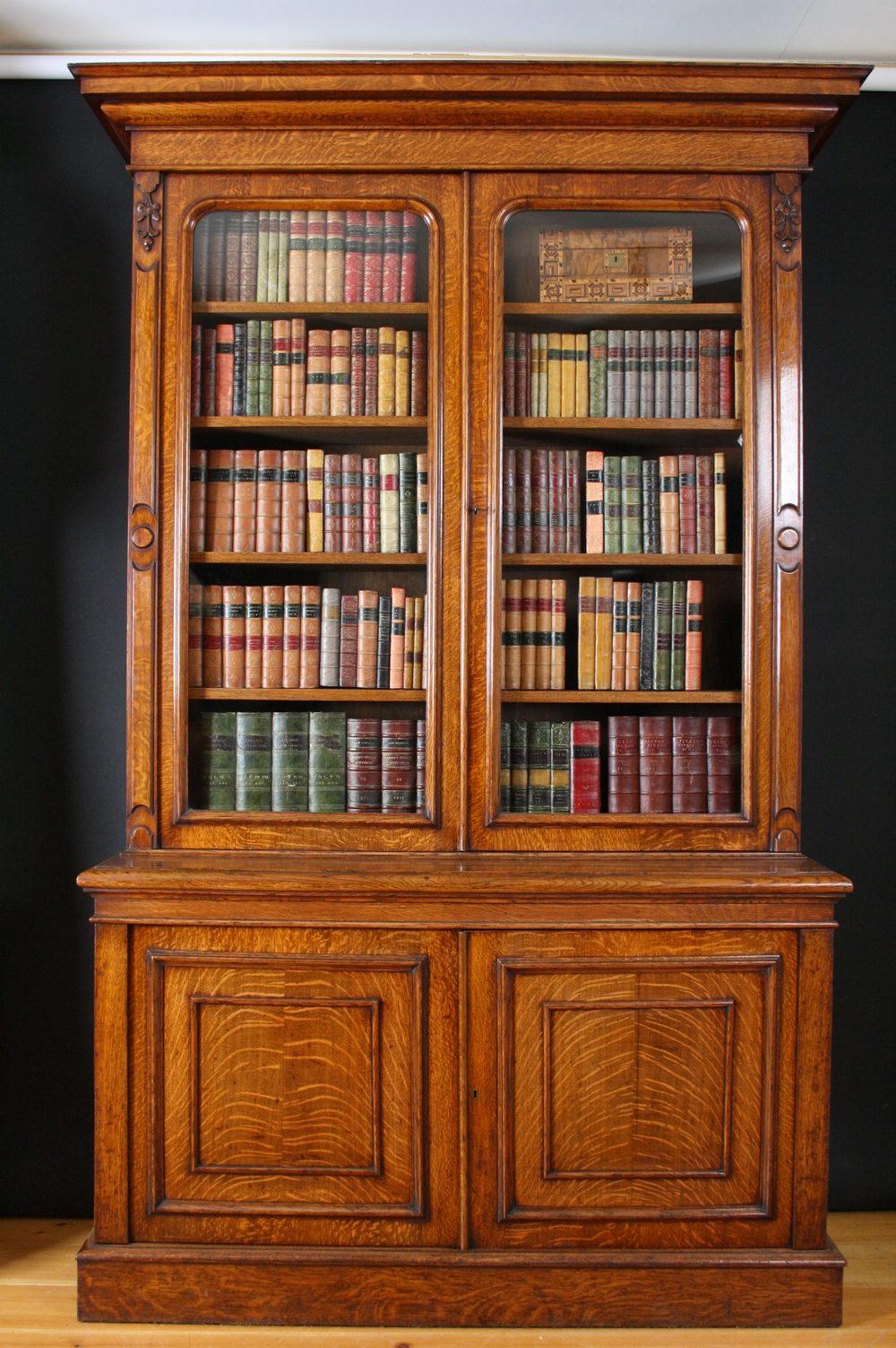Victorian Oak Bookcase Antiques Atlas