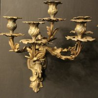 Antiques Atlas - French Pair Of Bronze Antique Wall Sconces