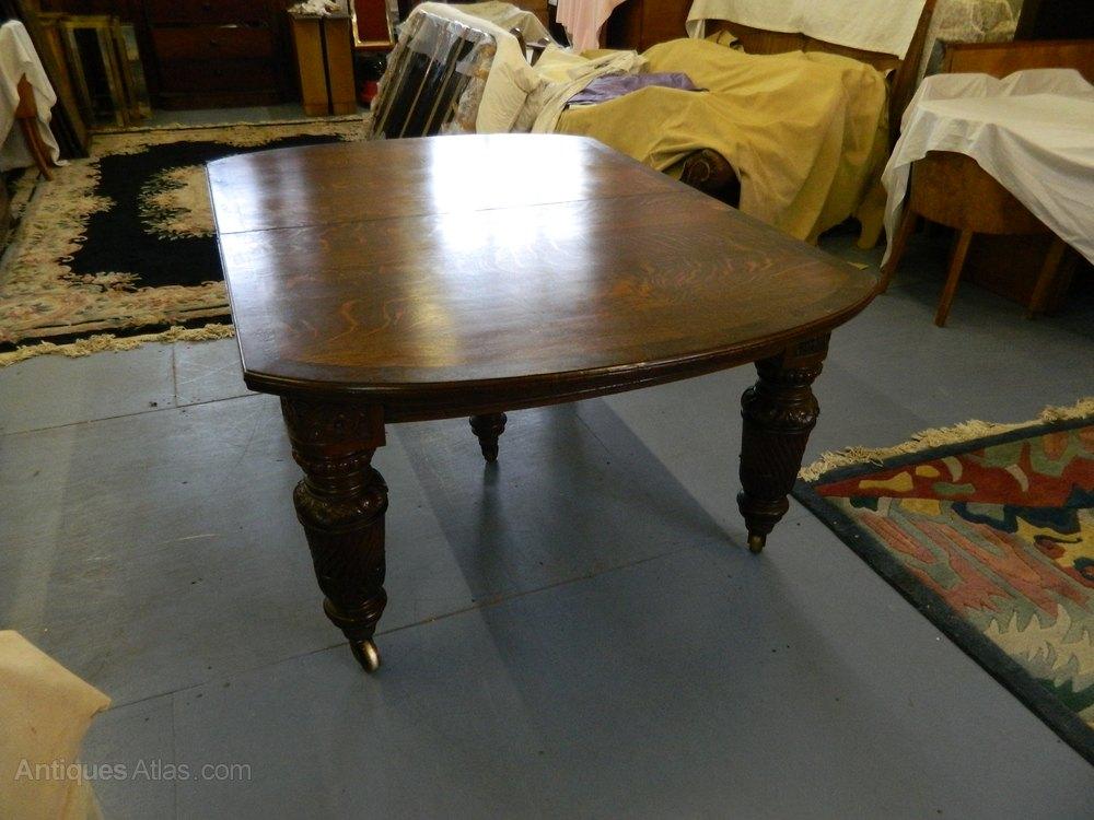 Huge Oak Shoolbred Dining Table C 1880 Antiques Atlas