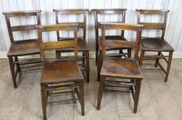 Antiques Atlas - Antique Chapel Chairs Church Chairs Rustic