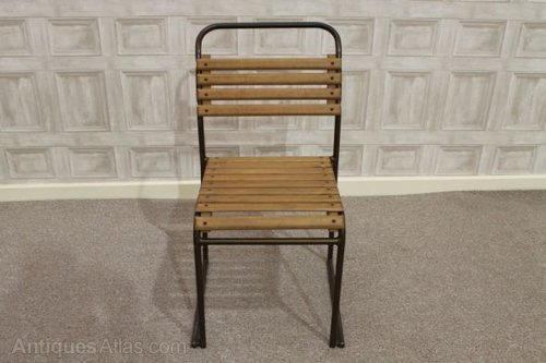 Antiques Atlas Wooden Slatted Vintage Stacking Chairs