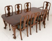 Late Victorian Mahogany Dining Table And 7 Chairs ...