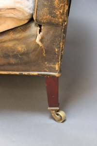 Victorian Leather Bergere Chair - Antiques Atlas
