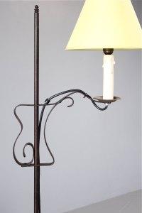 Antiques Atlas - Iron Floor Standing Adjustable Lamp