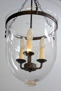 Antiques Atlas - Vintage Etched Glass Ceiling Light. T978