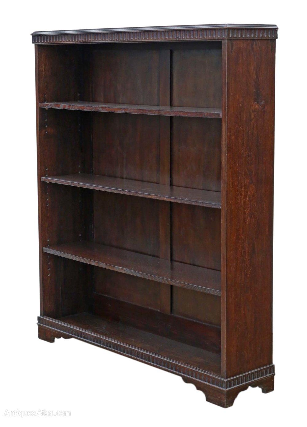 Adjustable Oak Bookcase Display Shelves C1920 Antiques Atlas