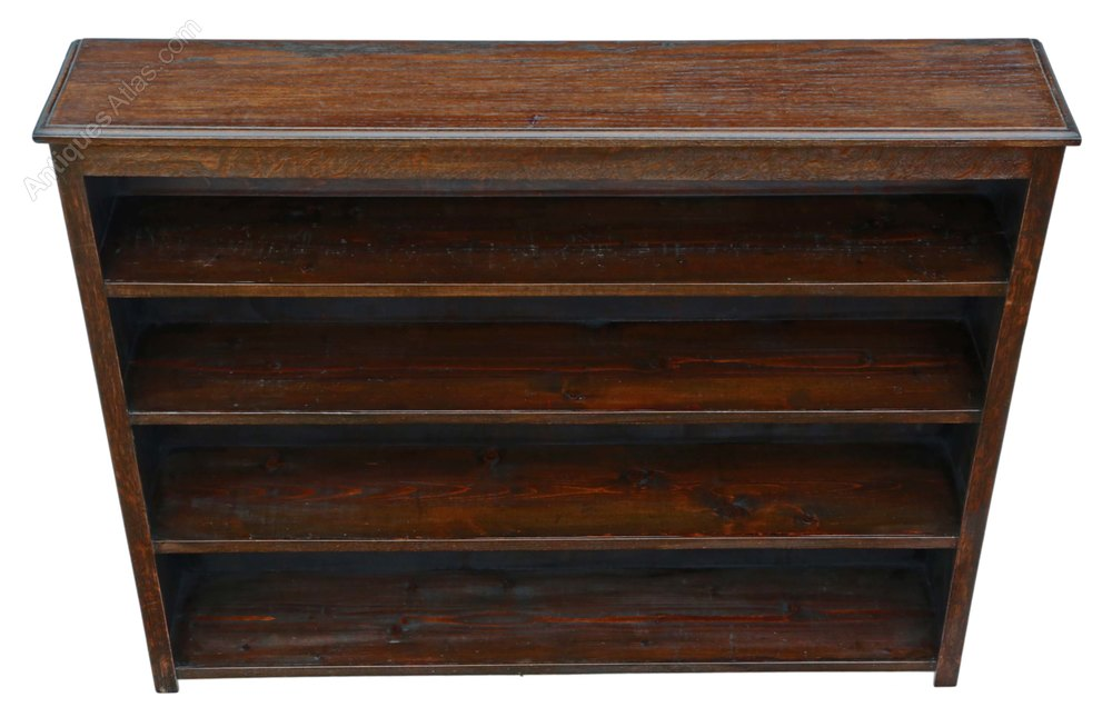 Large Oak Bookcase Display Shelves C1920 Antiques Atlas