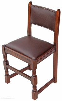 Antiques Atlas - Set Of 4 Oak Gothic Revival Dining Chairs