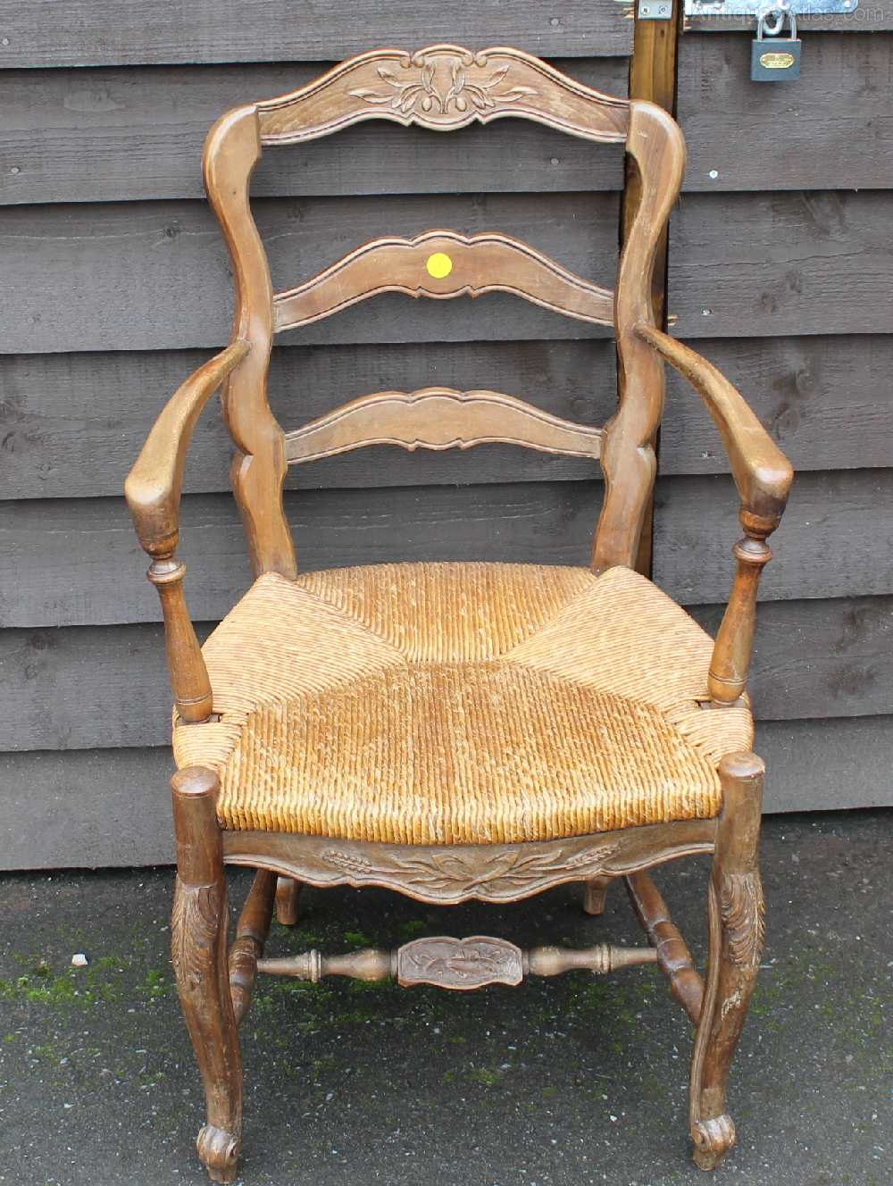 French Mahogany Rustic Occasional Carver Chair Antiques