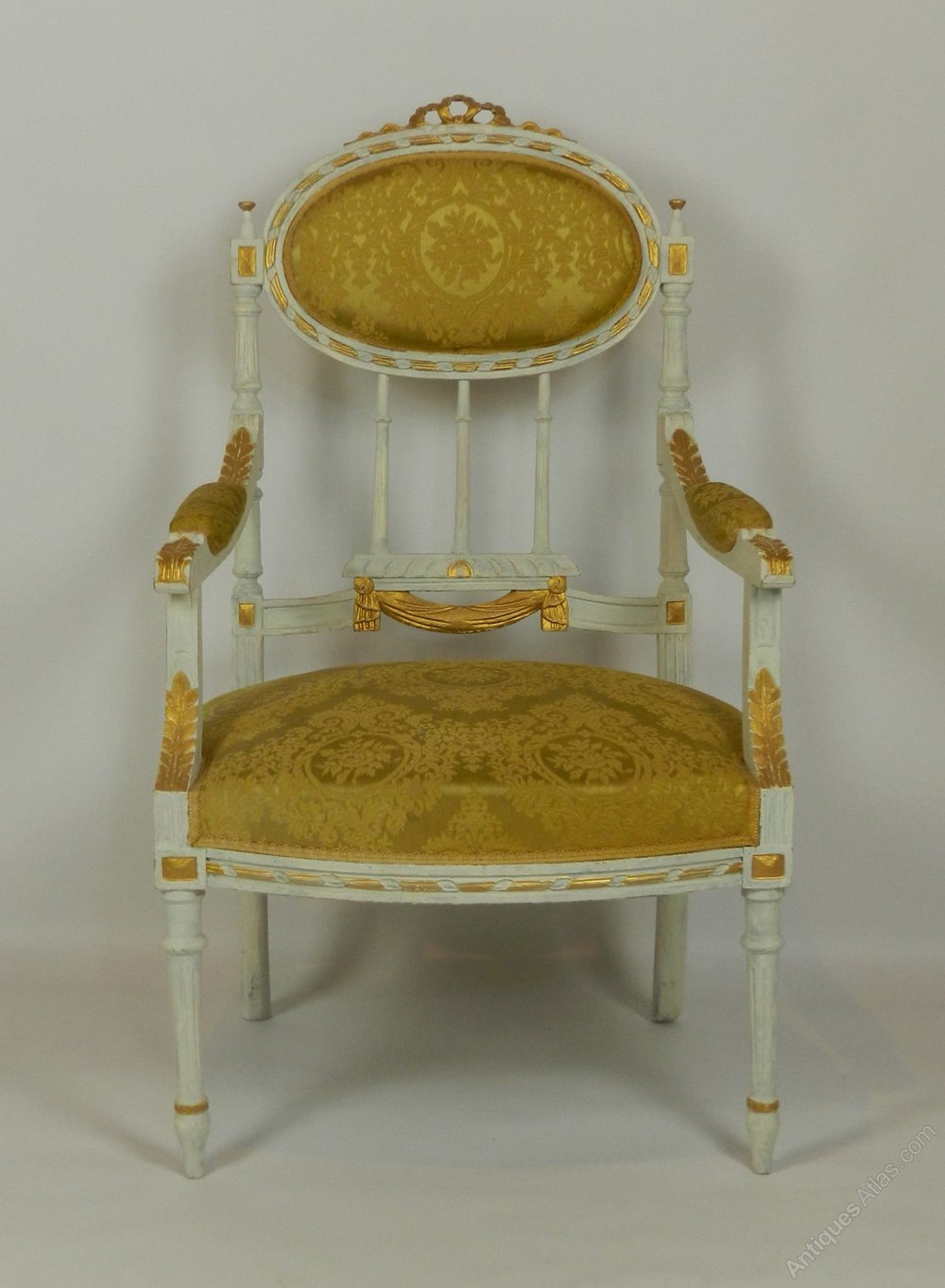 French Louis Xvi Style Canapé Sofa Settee With Arm - Canape Style Louis 16