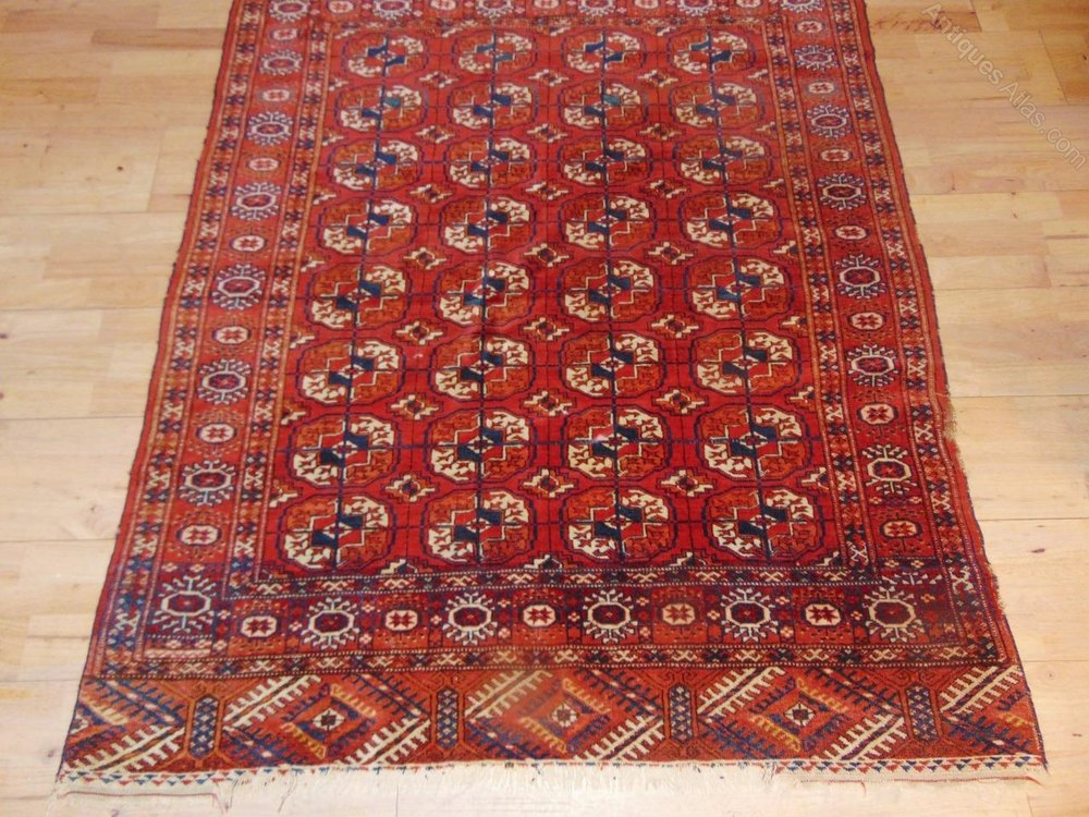 Antiques Atlas Antique Turkoman Hand Woven Tekke Rug