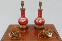 Antiques Atlas - Pair Of Antique Porcelain Table Lamps