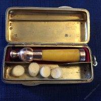 Antiques Atlas - Gold & Amber Cigarette Holder.