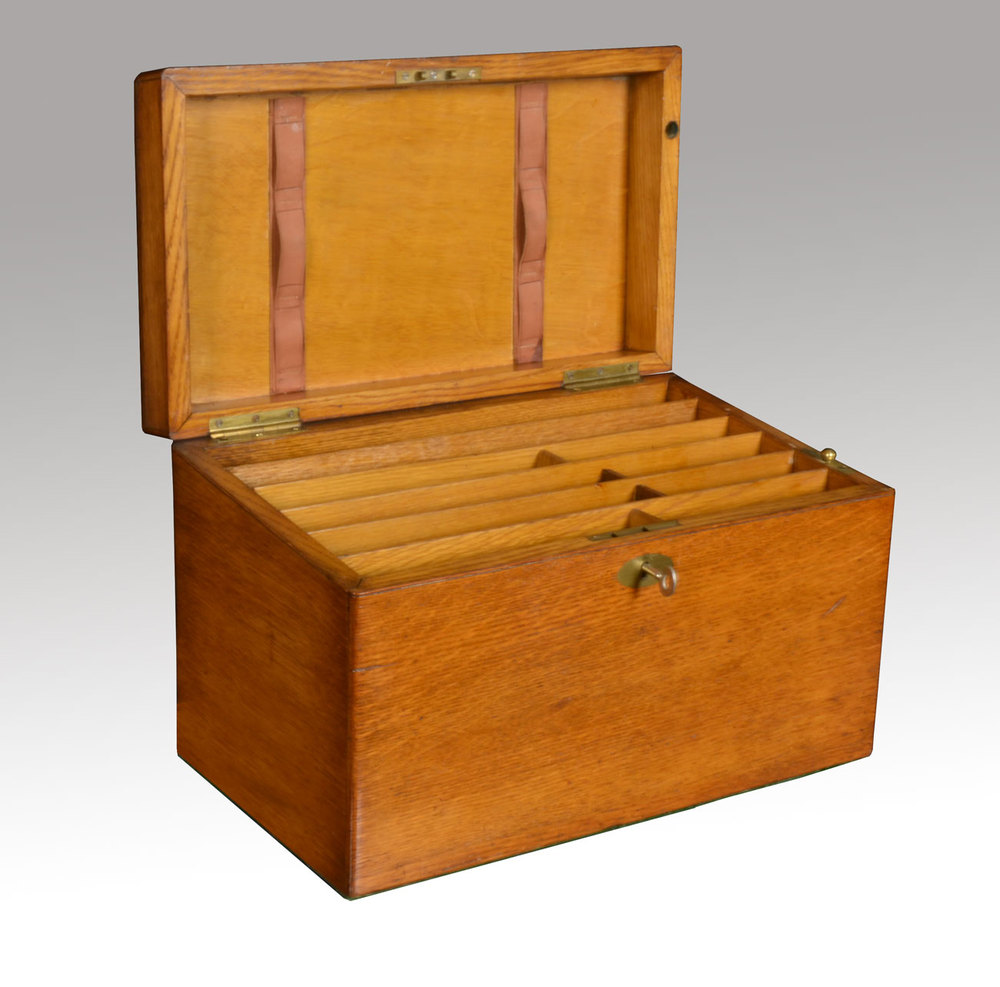 Stationary Boxes Victorian Oak Stationary Box