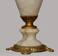 Antiques Atlas - White Alabaster Table Lamp
