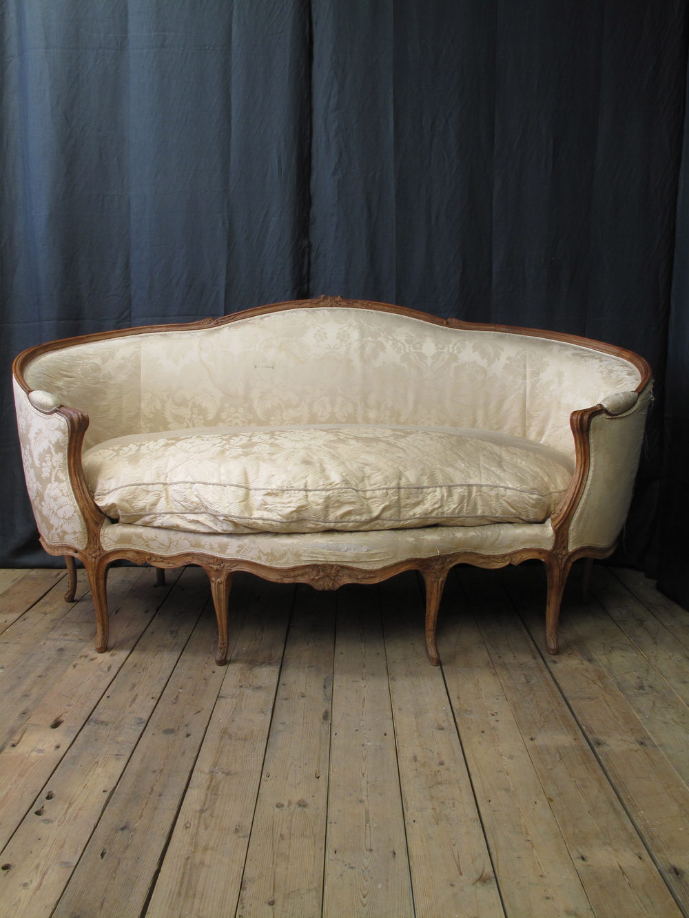 Canape Sofa French Louis Xv Canape Corbeille En Hetre Sofa