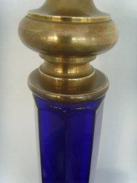 Antiques Atlas - Bristol Blue Glass Art Deco Table Lamp