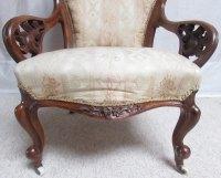 Victorian Walnut Show Wood Arm Chair - Antiques Atlas