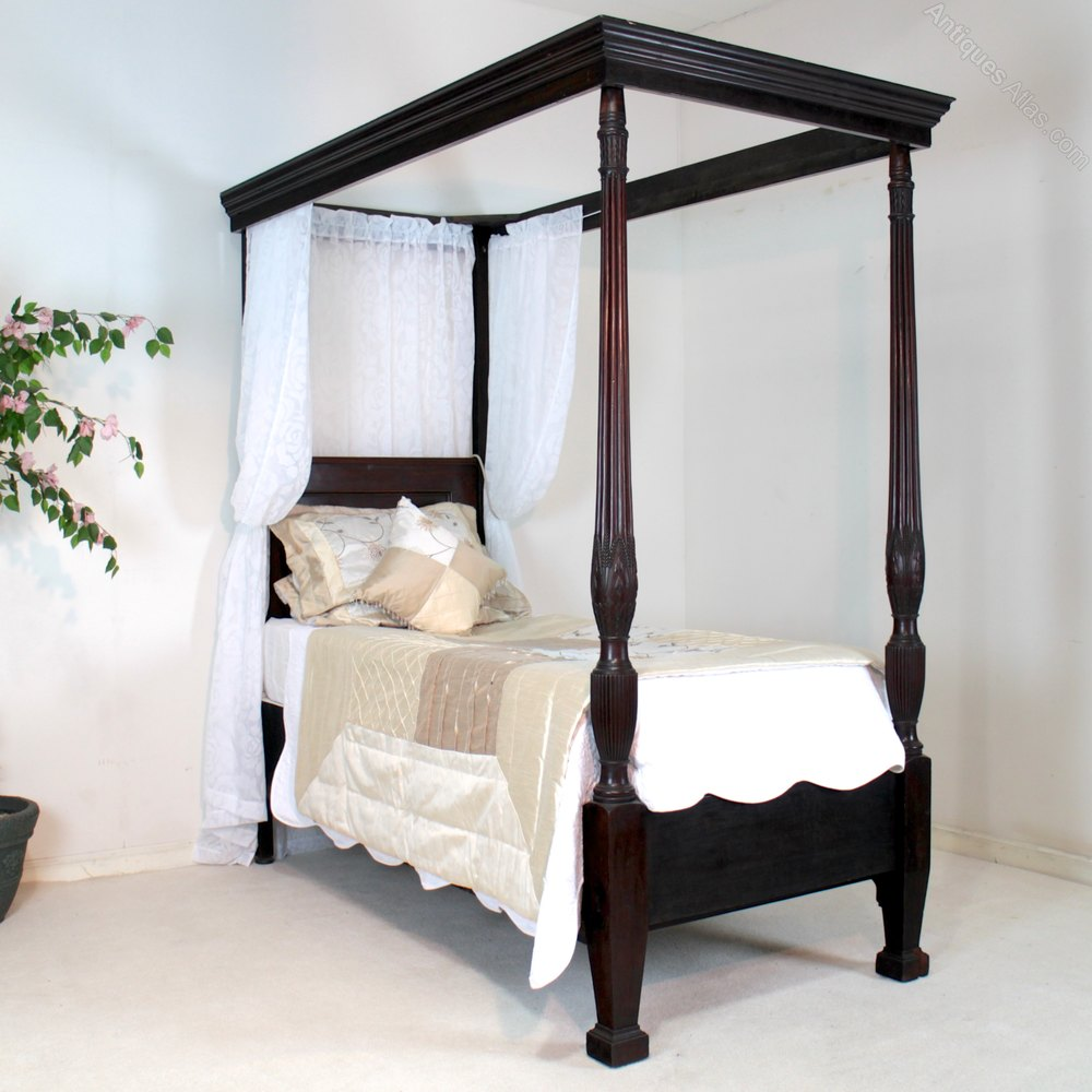 Single Four Poster Bed Victorian Mahogany Single Four Poster Bed Antiques Atlas