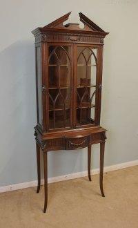 Antique Edwardian Mahogany Display Cabinet. - Antiques Atlas