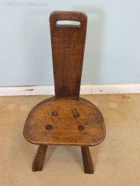 Antique Oak Spinning Chair - Antiques Atlas