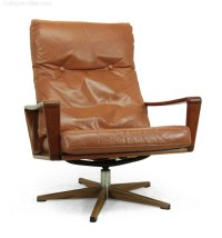 Antiques Atlas - Danish Teak Swivel Chair C1960