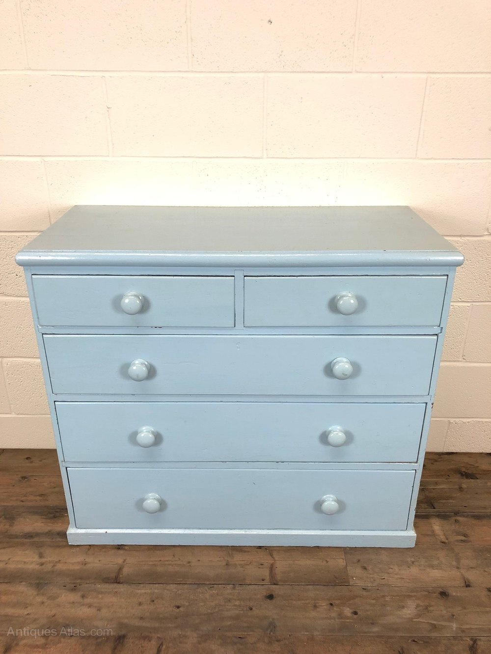 Blue Painted Victorian Pine Chest Of Drawers Antiques Atlas